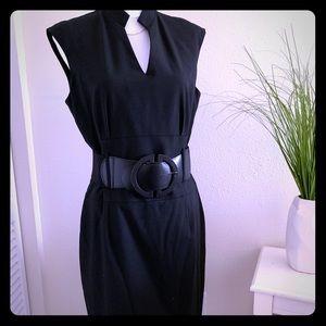 Antonio Melani Black Suited Office Dress